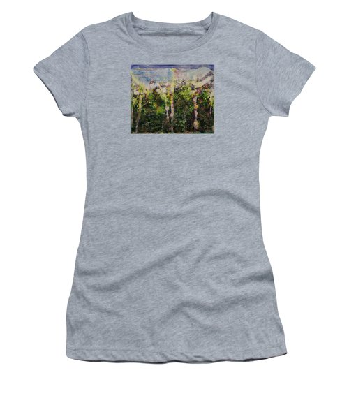 Women's T-Shirt (Junior Cut) featuring the painting Sanative by Ron Richard Baviello