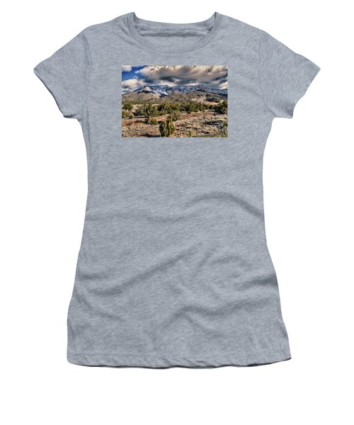 Sandia Mountain Landscape Women's T-Shirt (Junior Cut) by Alan Toepfer