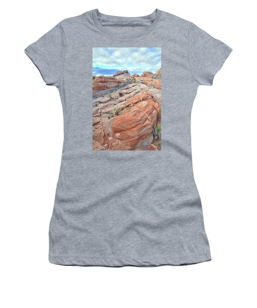 Sandstone Crest In Valley Of Fire Women's T-Shirt (Athletic Fit)