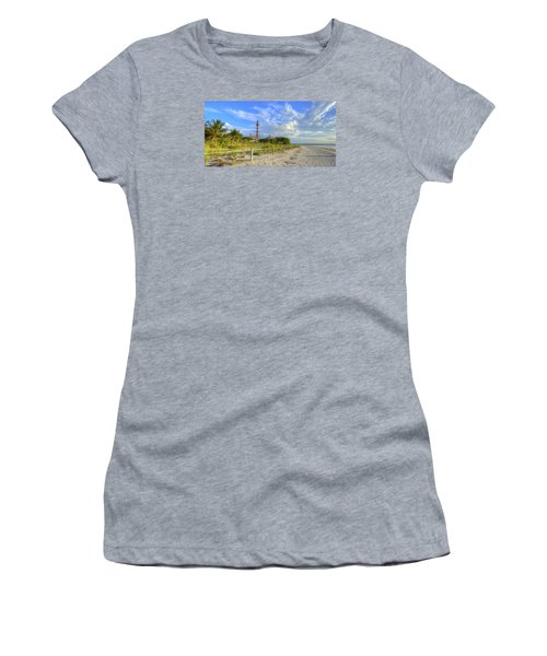 Sanibel Light House Women's T-Shirt (Junior Cut) by Sean Allen