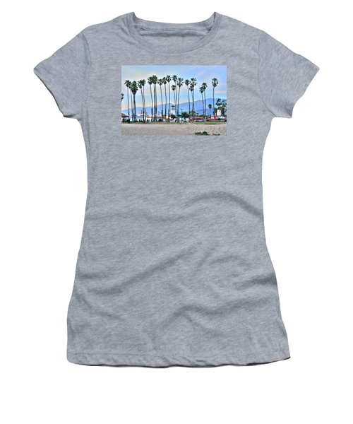 Santa Barbara From The Sea Women's T-Shirt (Athletic Fit)
