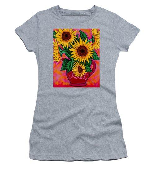 Saturday Morning Sunflowers Women's T-Shirt