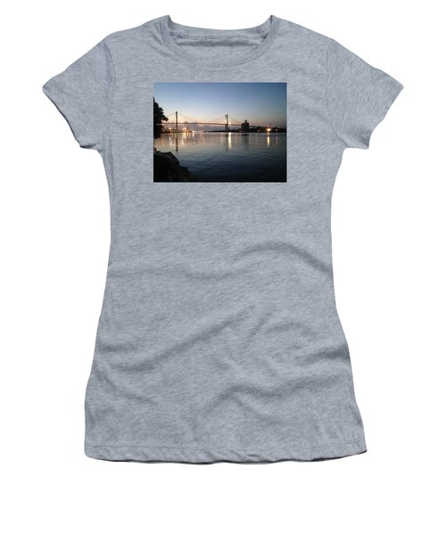 Savannah Bridge Evening  Women's T-Shirt (Athletic Fit)