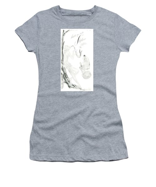Women's T-Shirt (Athletic Fit) featuring the digital art Sax Girl by ReInVintaged