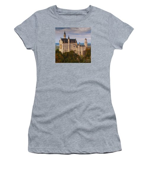Women's T-Shirt (Junior Cut) featuring the photograph Schloss Neuschwanstein by Franziskus Pfleghart