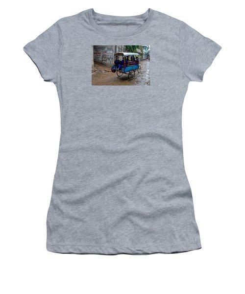 School Cart Women's T-Shirt (Junior Cut) by M G Whittingham
