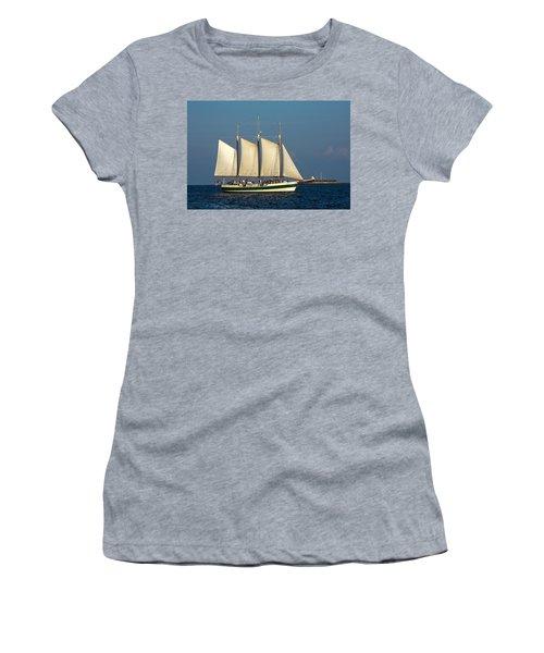Schooner By Fort Sumter Women's T-Shirt (Athletic Fit)