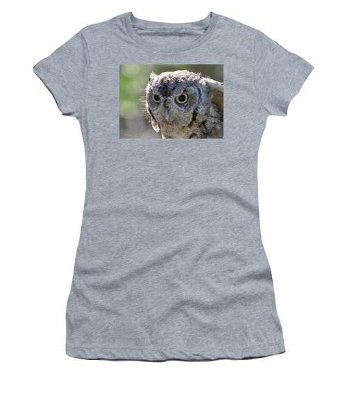 Screechowl Focused On Prey Women's T-Shirt (Athletic Fit)