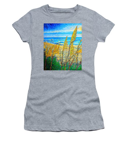 Sea Oat,dual #1 Women's T-Shirt (Athletic Fit)