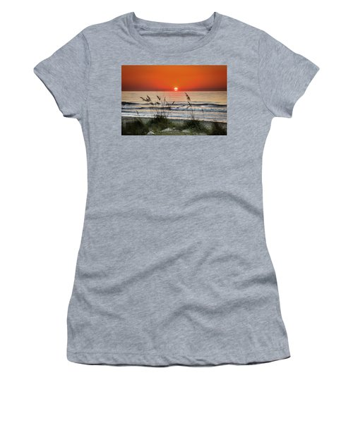 Sea Oats Sunrise Women's T-Shirt (Athletic Fit)