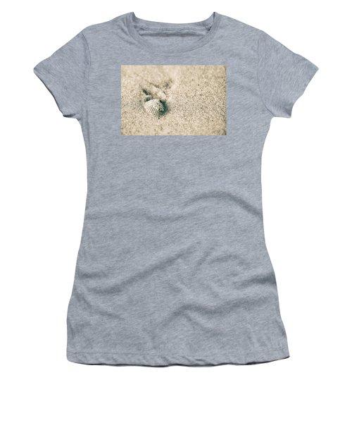 Women's T-Shirt (Junior Cut) featuring the photograph Sea Shell On Beach  by John McGraw