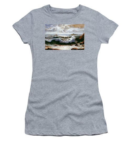 Women's T-Shirt featuring the painting Sea Storm by Rosario Piazza