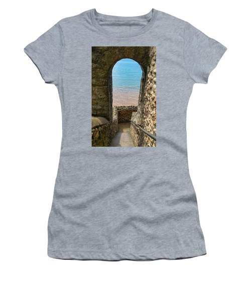 Women's T-Shirt (Junior Cut) featuring the photograph Sea View Arch by Scott Carruthers