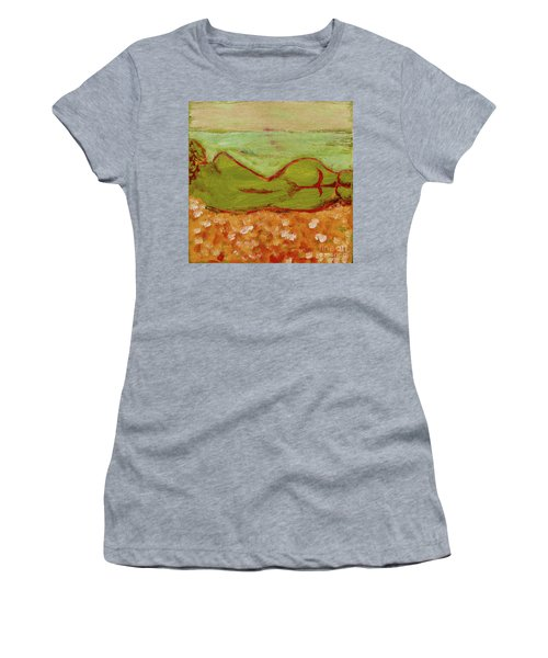 Women's T-Shirt (Junior Cut) featuring the painting Seagirlscape by Paul McKey