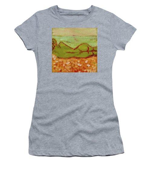 Seagirlscape Women's T-Shirt (Junior Cut) by Paul McKey