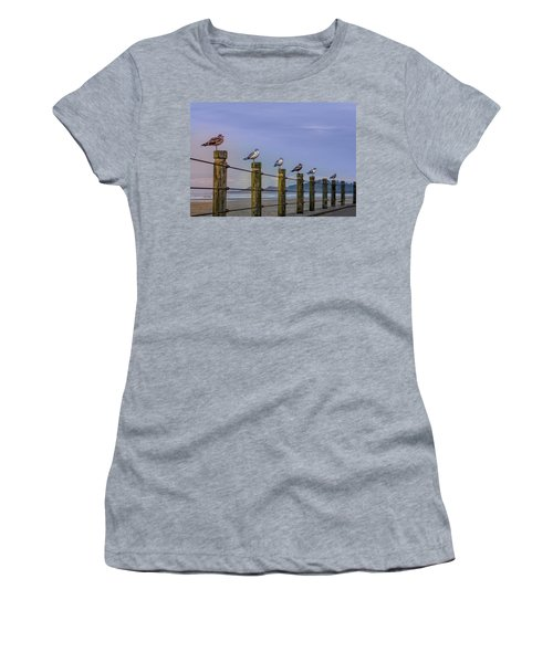 Seagull Lineup Women's T-Shirt (Athletic Fit)