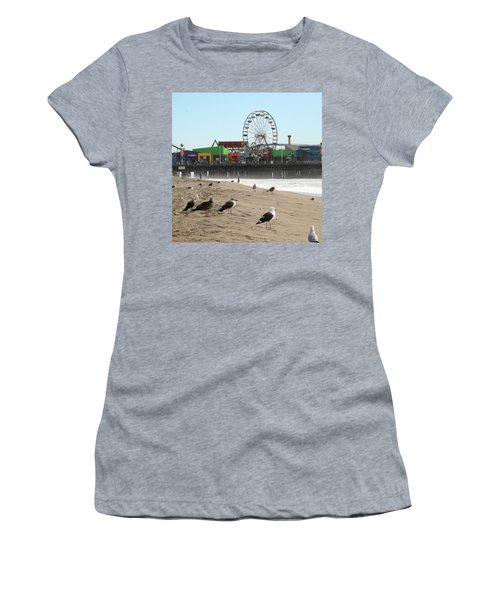 Seagulls And Ferris Wheel Women's T-Shirt