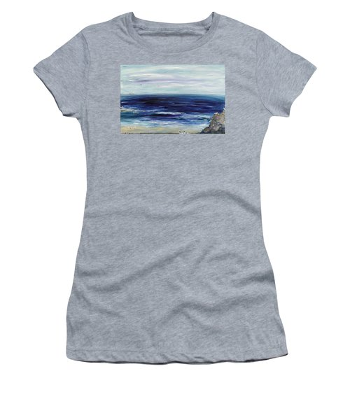 Seascape With White Cats Women's T-Shirt