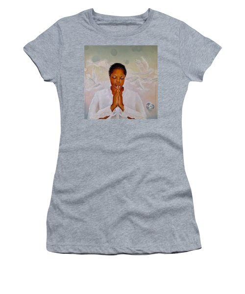 Women's T-Shirt (Junior Cut) featuring the painting Secret Closet by Christopher Marion Thomas
