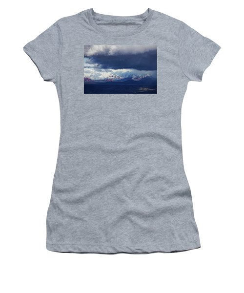Sedona Area Third Winter Storm Women's T-Shirt (Junior Cut) by Ron Chilston