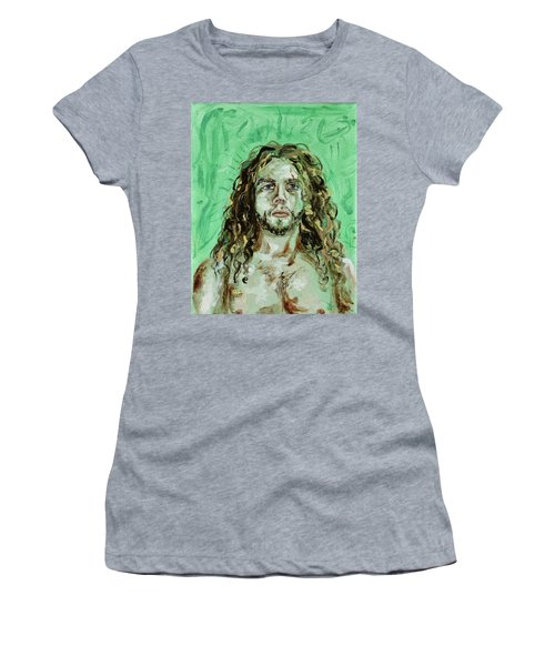 Self Portrait -with Emerald Green And Mummy Brown- Women's T-Shirt