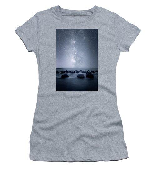 Women's T-Shirt (Junior Cut) featuring the photograph Septarian Concretions by Dustin LeFevre