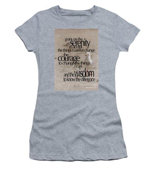 Women's T-Shirt (Junior Cut) featuring the photograph Serenity Prayer 01 by Vicki Ferrari