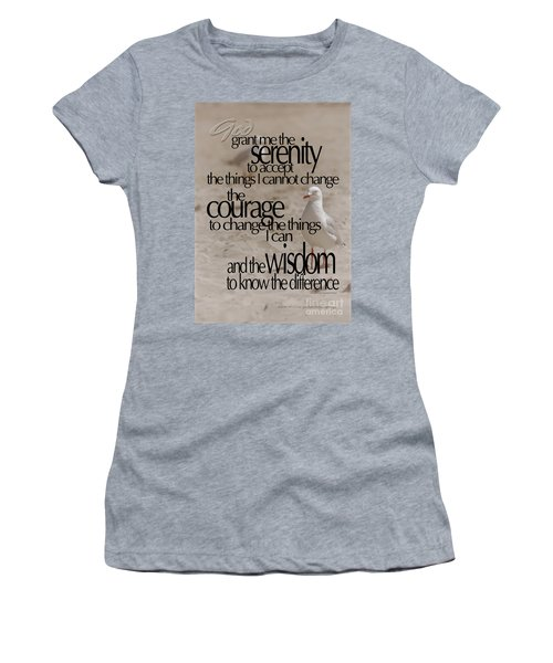 Serenity Prayer 01 Women's T-Shirt (Athletic Fit)