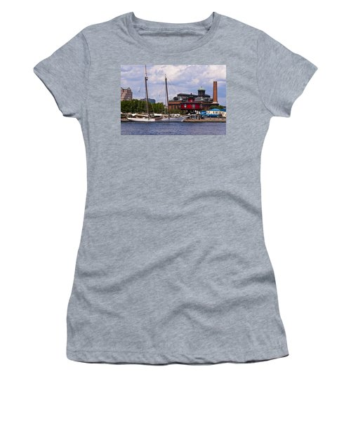 Seven Foot Knoll Lighthouse - Baltimore Women's T-Shirt (Athletic Fit)