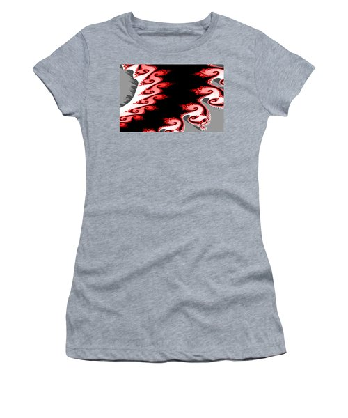 Shades Of Red And Gray Women's T-Shirt (Athletic Fit)
