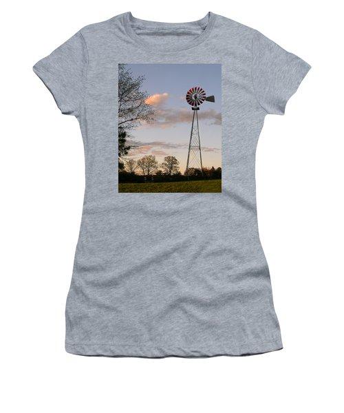 Women's T-Shirt (Junior Cut) featuring the photograph Shadows Fall  by Bonnie Willis