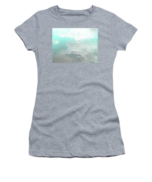 Women's T-Shirt (Athletic Fit) featuring the photograph Let The Water Wash Over You. by Rebecca Harman