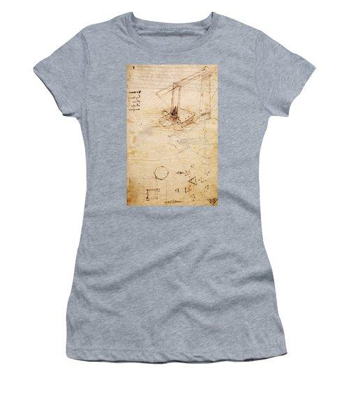 Ship, From Codex Trivulzianus, Folio 2 Recto Women's T-Shirt