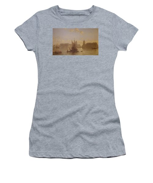 Shipping On The Thames At Greenwich Women's T-Shirt