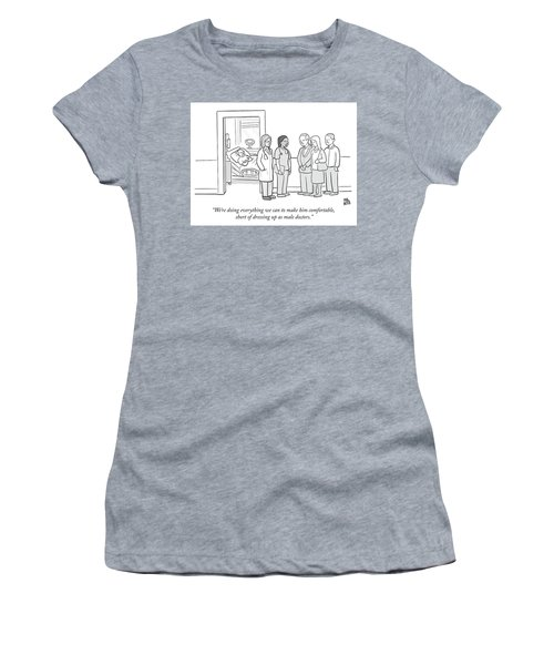 Short Of Dressing Up As Male Doctors Women's T-Shirt