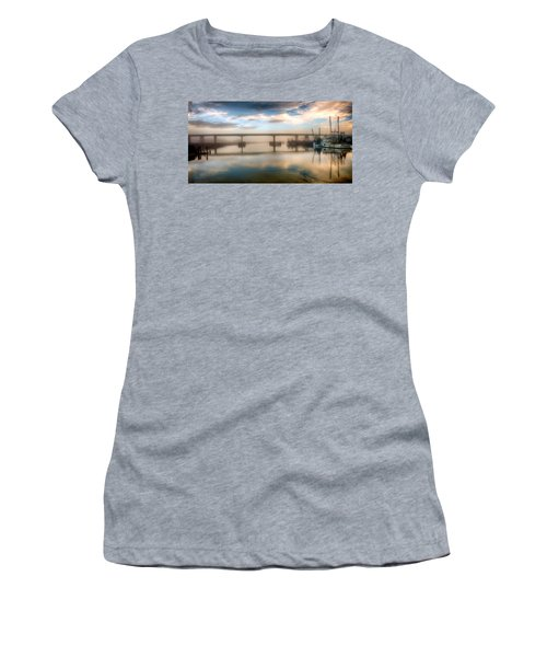 Shrimp Boats At Sunrise Women's T-Shirt (Athletic Fit)