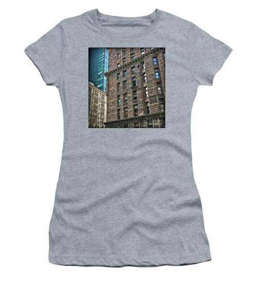 Women's T-Shirt (Junior Cut) featuring the photograph Sights In New York City - Old And New by Walt Foegelle