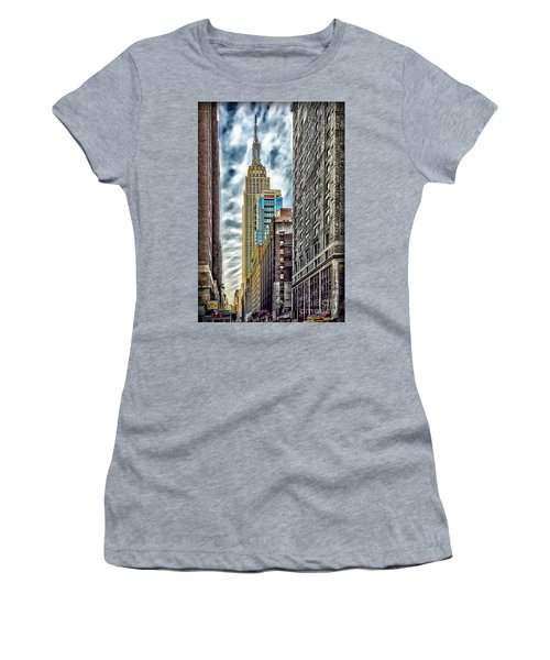 Women's T-Shirt (Junior Cut) featuring the photograph Sights In New York City - Skyscrapers 10 by Walt Foegelle