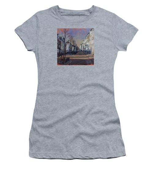 Women's T-Shirt (Junior Cut) featuring the painting Silence Before The Storm by Nop Briex