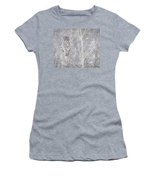 Women's T-Shirt (Junior Cut) featuring the photograph Silent Snowfall Landscape by Everet Regal