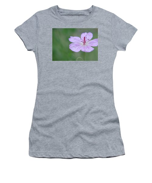 Simplicity Of A Flower Women's T-Shirt (Athletic Fit)