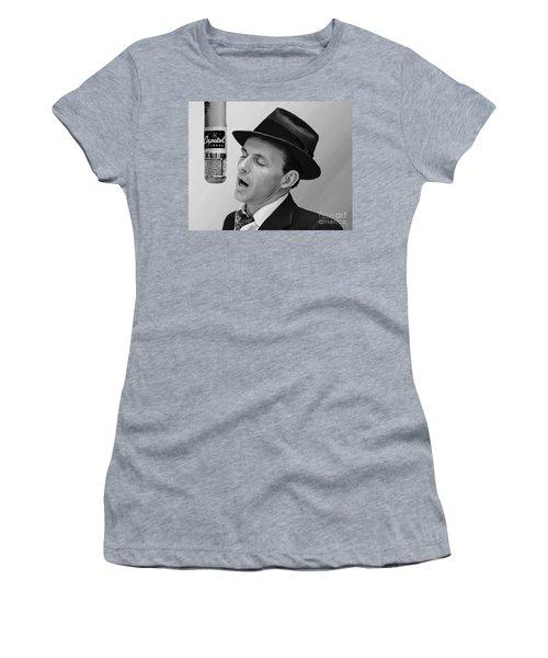 Sinatra Women's T-Shirt (Junior Cut) by Paul Tagliamonte