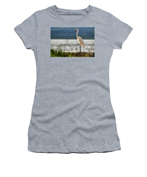 Singing White Egret Women's T-Shirt