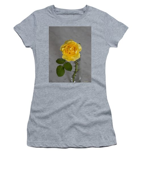 Single Yellow Rose With Thorns Women's T-Shirt