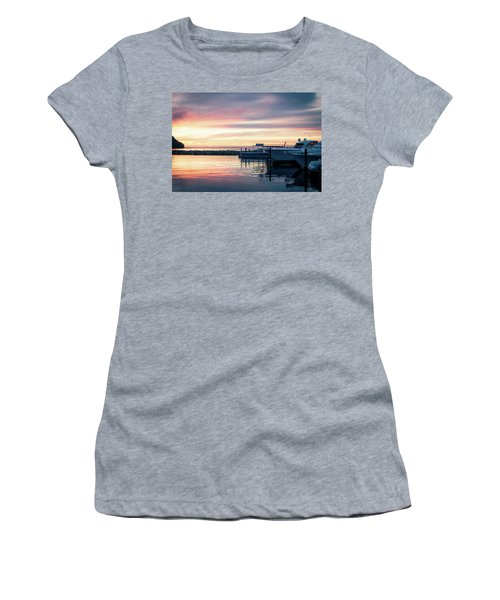 Sister Bay Marina At Sunset Women's T-Shirt