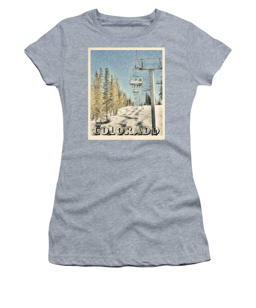 Ski Colorado Women's T-Shirt (Athletic Fit)