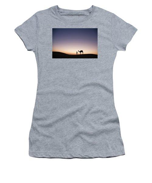 Skn 0860 Dawn At The Dunes Women's T-Shirt (Junior Cut) by Sunil Kapadia
