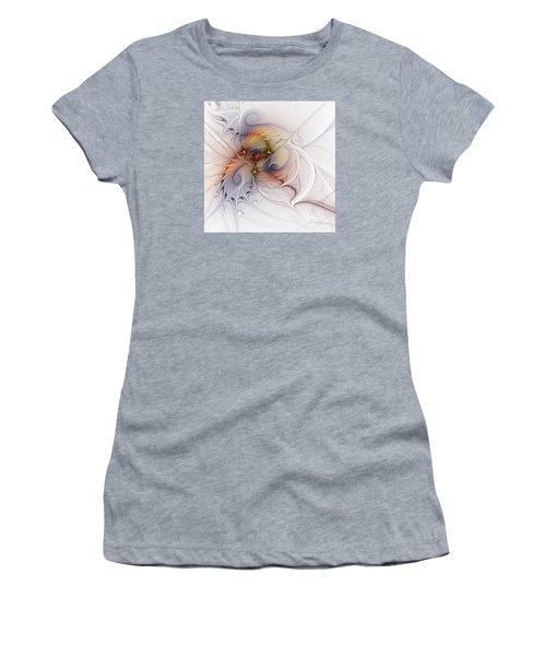 Women's T-Shirt (Junior Cut) featuring the digital art Sleeping Beauties by Karin Kuhlmann