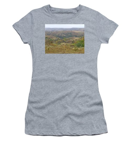 Women's T-Shirt featuring the photograph Slope County In The Rain by Cris Fulton