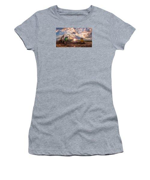 Smart Financial Centre Construction Sunset Sugar Land Texas 11 21 2015 Women's T-Shirt (Junior Cut)